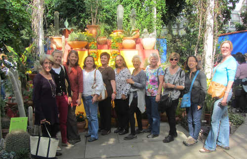 photo: CCA members on a visit to the Bronx Botanical Gardens