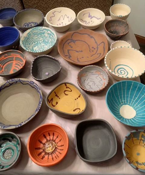 photo: Preparation for Empty Bowls, New Milford