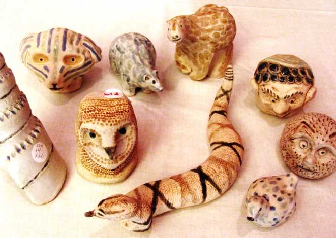 photo: Exotic Clay Rattles made by CCA
