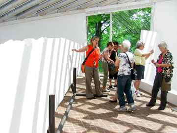 photo: CCA members on a visit to the Philip Johnson Glass House